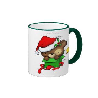 Christmas Teddy Bear Box mug
