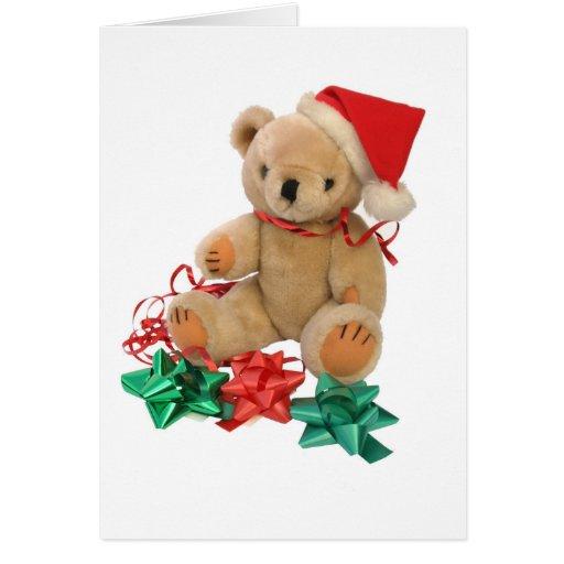 Christmas teddy bear - card