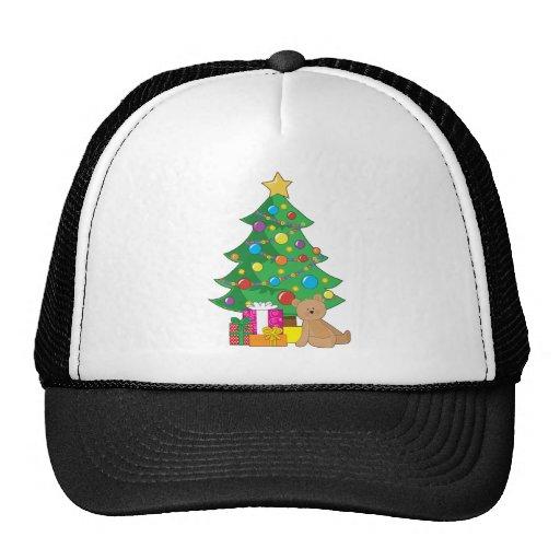 Christmas Teddy Bear Mesh Hats