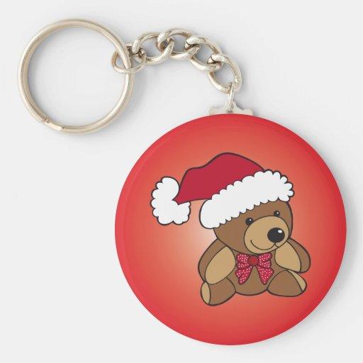 Christmas Teddy Bear Key Chain