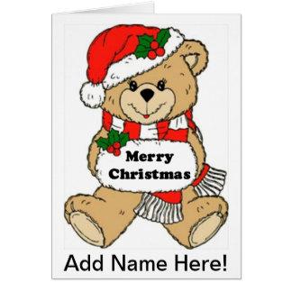 Christmas Teddy Bear Message Greeting Card