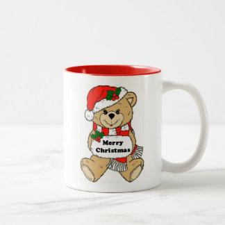 Christmas Teddy Bear Message Coffee Mugs