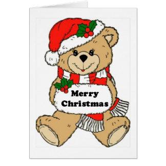Christmas Teddy Bear Message Note Card
