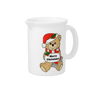 Christmas Teddy Bear Message Pitcher