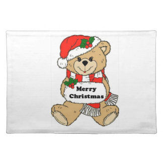 Christmas Teddy Bear Message Placemat