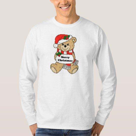 Christmas Teddy Bear Message T-Shirt