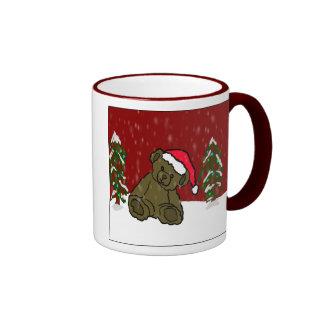 Christmas Teddy Bear Mugs