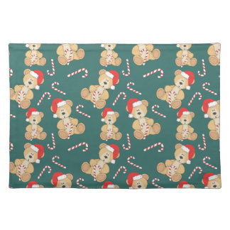 Christmas Teddy Bear Placemat