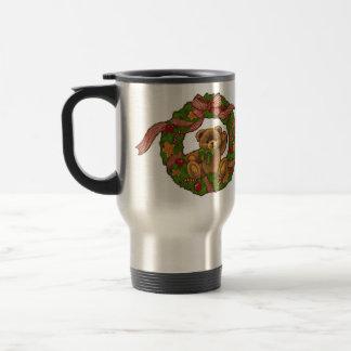 Christmas Teddy Bear Wreath Mug