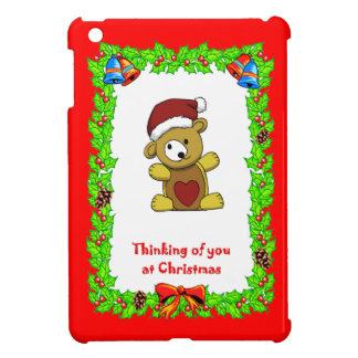 Christmas teddy iPad mini cover