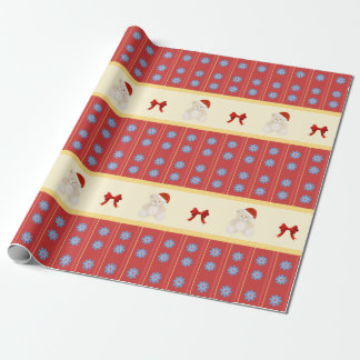Christmas Teddy Wrapping Paper
