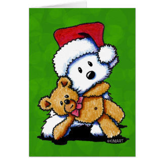 Christmas Teddybear Westie Cards