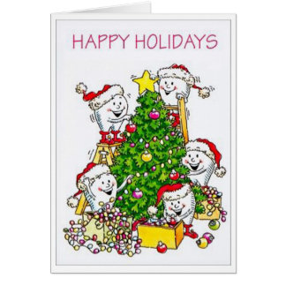 Christmas Teeth Dentist Greeting Card
