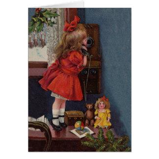 Christmas telephone card