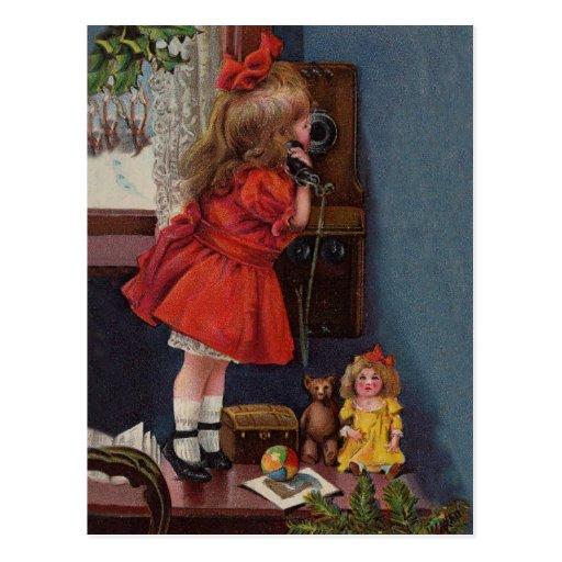 Christmas telephone postcard