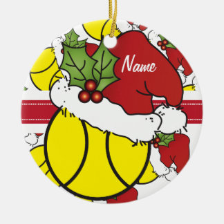 Christmas Tennis Ball | Personalize Christmas Ornament