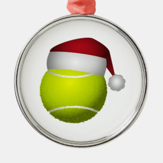 Christmas Tennis Ball Silver-Colored Round Decoration