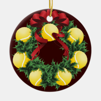 Christmas Tennis Wreath Christmas Ornament