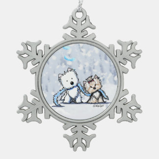 Christmas Terriers Westie & Yorkie Ornament