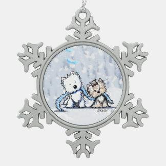 Christmas Terriers Westie & Yorkie Ornament