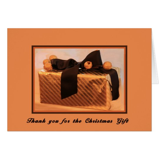 Christmas Thank You Card for Gift
