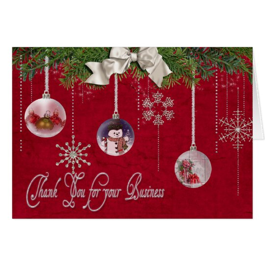 Christmas Thank You for  your customers Card