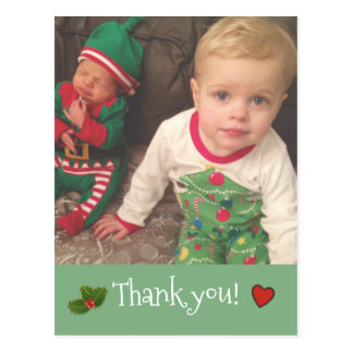 Christmas Thank you ~ Photo card Postcard