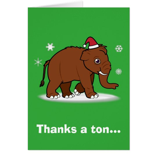Christmas Thank You Woolly Mammoth Notes