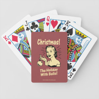 Christmas: The Holiday With Balls Bicycle Playing Cards