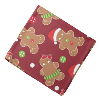 Christmas Theme Gingerbread Men Bandana