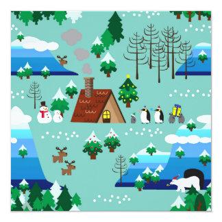 Christmas Theme Landscape Card