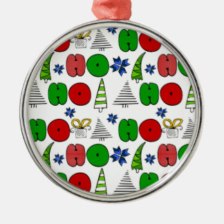 "Christmas themed doodles design, ""Ho-ho-ho"" Christmas Ornament"