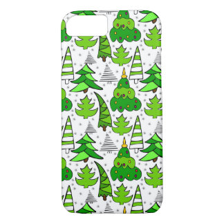 Christmas themed doodles design, kid's drawnings iPhone 8/7 case