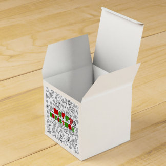 Christmas themed doodles design, kid's drawnings wedding favour box