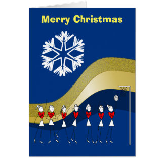 Christmas Themed Netball Card