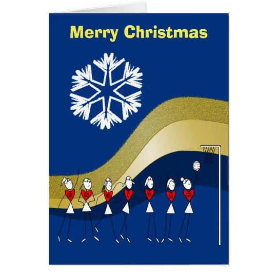 Christmas Themed Netball Card