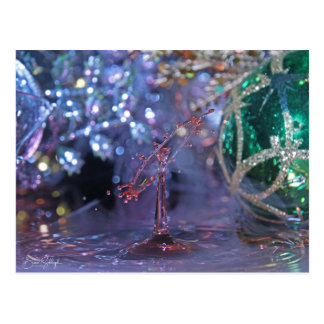 Christmas Themed Water Drop Post Card