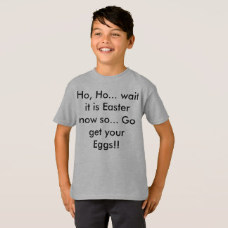 Christmas Then Easter Funny Kids Shirt