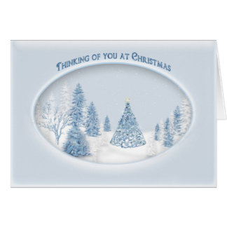 CHRISTMAS - THINKING OF YOU - SNOW/TREE/SCENIC CARD