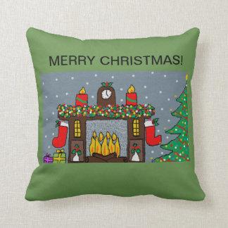 christmas throw cushion cosy design