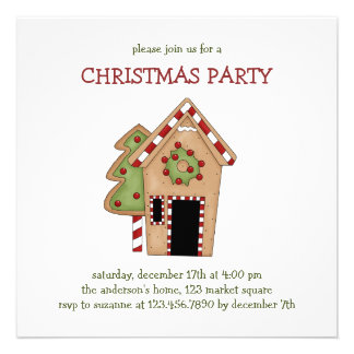 Christmas Thyme · Gingerbread House Invite