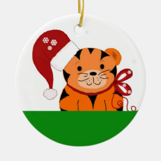 Christmas Tiger Christmas Ornament