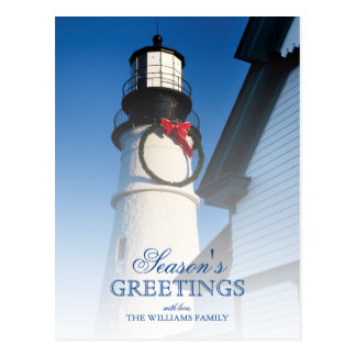 Christmas time at Portland Head Lighthouse Postcard