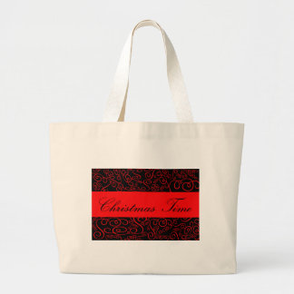 Christmas Time flakes decoration Jumbo Tote Bag