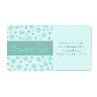 Christmas Time label Shipping Label