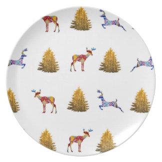 Christmas Time Melamine Plate
