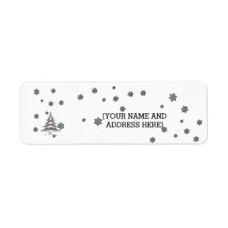 Christmas Time Return Address Label