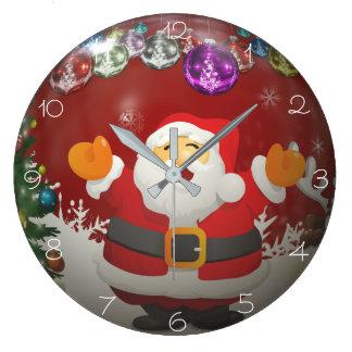 CHRISTMAS TIME, SANTA WALL CLOCK