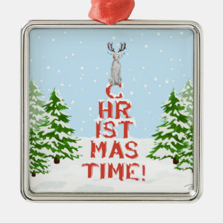 CHRISTMAS TIME WEIMARANER ORNAMENT