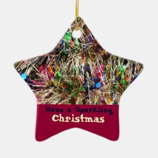 Christmas Tinsel Tree Ornament